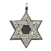 18K White Gold 0.30cttw Diamond Star of David Pendant