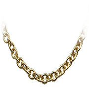 "18K Yellow Gold 18""  Rollo Chain"