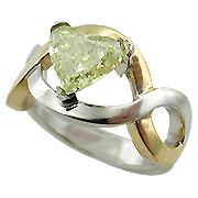18K Two Tone 1.49ct Fancy Diamond Ring