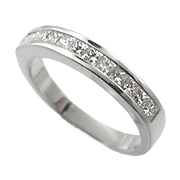 18K White Gold 1/2ct Diamond Band
