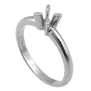 18K White Gold Setting