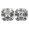 Matching Asscher Cut Diamond Pair