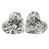 Matching Heart Shape Diamond Pair