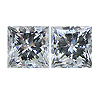 Matching Princess Cut Diamond Pair