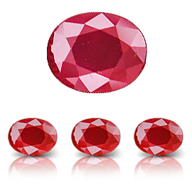 0.50 ct Oval Ruby : Fine Red