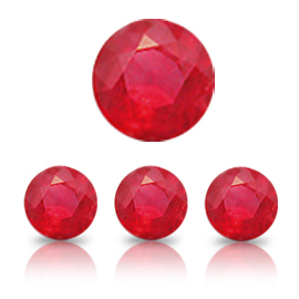 0.70 ct Round Ruby : Rich Pigeon Blood Red