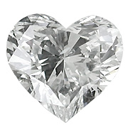 1.02 ct Heart Shape Diamond : D / SI1