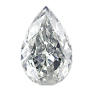 0.82 ct Pear Shape Diamond : H / SI1