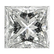 0.33 ct Princess Cut Diamond : J / VS1