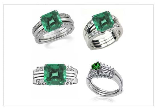 Case Study - Emerald Wedding Set With Diamonds