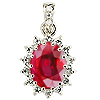 18K White Gold 2.50cttw Ruby & Diamond Pendant
