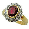 18K Two Tone 2.22cttw Ruby & Diamond Ring