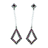 18K White Gold 0.80cttw Ruby Earrings