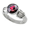 18K White Gold 3.00cttw Ruby & Diamond Ring