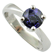 18K White Gold 1.00ct Sapphire Ring