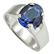 18K White Gold 2.00ct Sapphire Ring