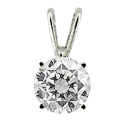 14K White Gold 1.00ct Diamond Pendant