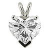 14K White Gold 0.33cttw Diamond Pendant