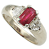 18K White Gold 1.50cttw Ruby & Diamond Ring