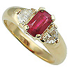 18K Yellow Gold 1.63cttw Ruby & Diamond Ring