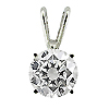 14K White Gold 0.30 ct. Diamond Pendant