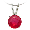 14K White Gold 1/2 ct Ruby Pendant
