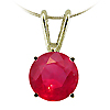 14K Yellow Gold 1/2 ct Ruby Pendant