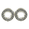 14K White Gold 0.16cttw Diamond Earrings