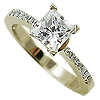 18K Yellow Gold 1.10cttw Diamond Ring