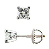 18K White Gold Scrollwork Style 1/3cttw Diamond Stud Earrings