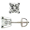 18K White Gold Scrollwork  2.00 cttw Diamond Stud Earrings