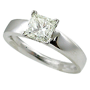 18K White Gold 1.01ct Diamond Ring