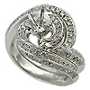 18K White Gold 1.40cttw Diamond Setting
