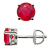 18K White Gold 1.50cttw Ruby Earrings
