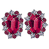 18K White Gold 1.76cttw Ruby & Diamond Earrings