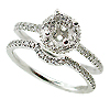 18K White Gold 0.45cttw Diamond Setting