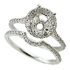 18K White Gold 0.55cttw Diamond Setting