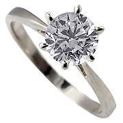 18K White Gold 1.00ct Diamond Ring