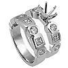 18K White Gold 1.52cttw Diamond Setting