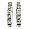 18K White Gold 0.36cttw Diamond Earrings