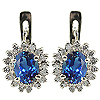 14K White Gold 2.32cttw Sapphire & Diamond Earrings