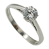 14K White Gold 0.45ct Diamond Ring