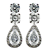 18K White Gold 2.40cttw Diamond Earrings