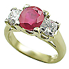 18K Yellow Gold 1.50cttw Ruby & Diamond Ring