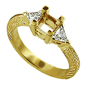 18K Yellow Gold 0.40cttw Diamond Setting
