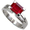 18K White Gold 1.50ct Ruby Ring