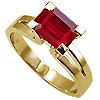 18K Yellow Gold 1.50ct Ruby Ring