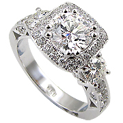 18K White Gold 1.90cttw Diamond Ring