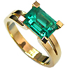 18K Yellow Gold 1.50ct Emerald Ring