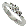14K White Gold 0.50cttw Diamond Ring